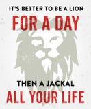 Verbessern Sie, um ein Löweplakat zu sein Lizenzfreies Stockfoto