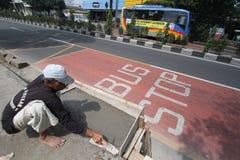 Verbesserte Anlagen der öffentlichen Transportmittel Lizenzfreies Stockbild