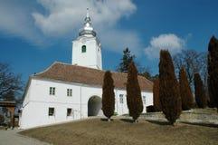 Verbesserte Schloss-Kirche in Sepsiszentgyorgy Lizenzfreies Stockbild