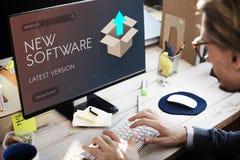 Verbesserungs-Aktualisierungs-neue Versions-besseres Grafik-Konzept Lizenzfreie Stockfotos