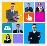 Verbesserungsgeschäft mithilfe der Technologie lizenzfreies stockfoto