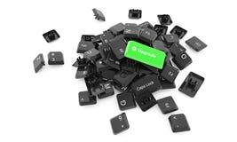 Verbesserungsschlüssel - Illustration 3d Lizenzfreie Stockfotos