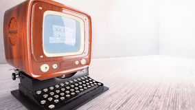 Verbetering van het de schrijfmachinesysteem van de concepten de oude computer Stock Fotografie