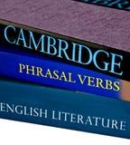 Verbi inglesi e relativi a frase Fotografia Stock