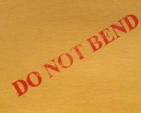 Verbiegen Sie nicht Lizenzfreies Stockbild