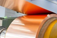 Verbiegende Maschine der kupfernen Folie Lizenzfreie Stockbilder