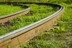 Verbiegende Schienen Stockfotografie