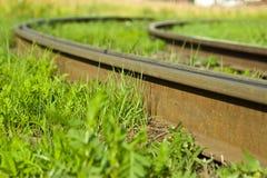 Verbiegende Schienen Stockbilder