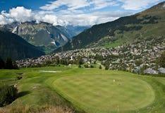 verbier的高尔夫球 免版税库存照片