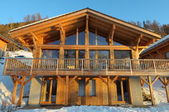 Verbier chalet Royalty Free Stock Images