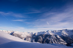 Verbier mountain scenery Royalty Free Stock Images