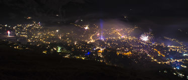 Verbier New years eve Royalty Free Stock Photos