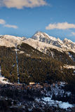 Verbier and the ski area Stock Photo