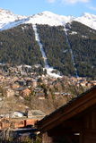 Verbier and the ski lift Stock Photo