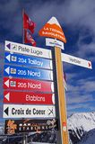Verbier ski resort Stock Photos