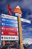 Verbier ski resort Stock Photos