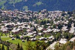Verbier, Zwitserland royalty-vrije stock foto's