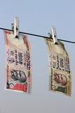 Verbieten Sie auf Rs 500, Rs, das 1000 Anmerkungen chirurgischer Streik auf Terrorfinanzierung ist, Schwarzgeld Lizenzfreies Stockfoto