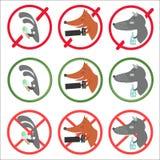 Verbietende Zeichen und lassen verschiedene Gelegenheiten zu stock abbildung