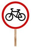 Verbietendes Verkehrszeichen - Fahrrad Stockbilder