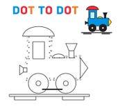 Verbind de de treinvector van het puntenspel Royalty-vrije Stock Foto