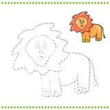 Verbind de punten en de kleurende pagina Stock Afbeelding