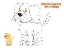 Verbind de Punten en trek het Leuke Puppy Labrador van de Beeldverhaalhond Educa stock illustratie