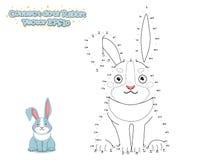 Verbind de Punten en trek Leuk Beeldverhaalkonijn Onderwijs spel royalty-vrije illustratie