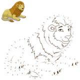 Verbind de punten om dierlijk onderwijsspel te trekken Stock Foto's