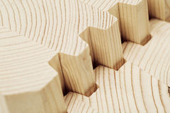 Verbind houten gelamineerd vernisjetimmerhout Royalty-vrije Stock Foto