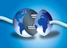 Verbind met de wereld Stock Fotografie