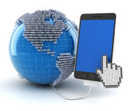 Verbind met digitale wereld Stock Foto's
