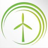 Verbind met duurzame energie - ecologieachtergrond Het concept van de Ecoenergie met energiepictogrammen Stock Afbeelding