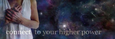 Verbind met uw hogere macht stock afbeeldingen