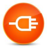 Verbind pictogram elegante oranje ronde knoop Royalty-vrije Stock Foto's
