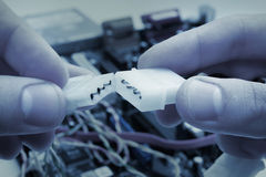 Verbind twee kabels Royalty-vrije Stock Afbeeldingen