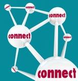 Verbind - Verbonden Gebieden in Netwerk stock illustratie