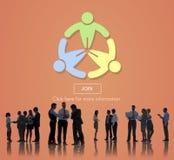 Verbinden Sie anwenden Einstellungsverbindungsmitgliederverzeichnis-Konzept stockfotos