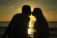 Verbinden Sie das Küssen Lizenzfreies Stockbild