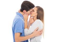 Verbinden Sie das Küssen Stockbilder