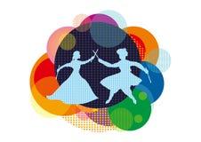 Verbinden Sie das Spielen von Raas/Daandiyaa, Navratri-Festival lizenzfreies stockbild