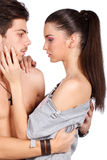 Verbinden Sie den Flirt Lizenzfreies Stockbild