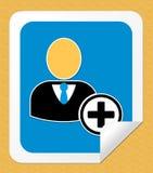 Verbinden Sie herauf die Zeichen-Ikonen-Shows, die Illustration 3d registrieren stock abbildung