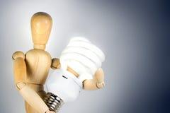 Verbinden Sie Leuchtstofffühler stockbild