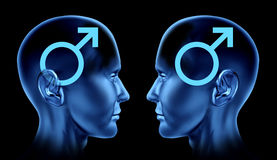 Verbinden Sie Mann-Mannsymbo der sexuellen Ausgaben homosexuelles homosexuelles lizenzfreie abbildung