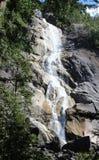 Verbinden Sie ` s selfie bei Shannon Falls, Squamish, Britisch-Columbia Lizenzfreies Stockbild