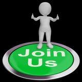 Verbinden Sie uns die Shows, die Mitgliedschaft oder Verein registrieren stock abbildung
