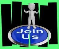 Verbinden Sie uns drückte die Shows, die Mitgliedschaft oder Verein registrieren stock abbildung