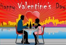 Verbinden Sie am Valentinsgrußtag Stockbild