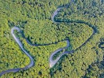 Verbindende gebieden van de Transfagarasan de nationale weg DN7C van Transylv royalty-vrije stock afbeelding